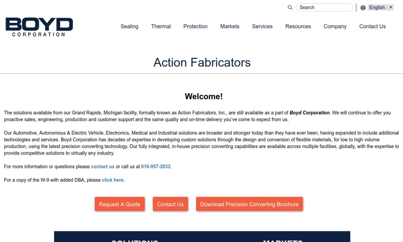 Action Fabricators, Inc.