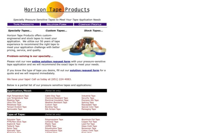 Horizon Tape Products Company