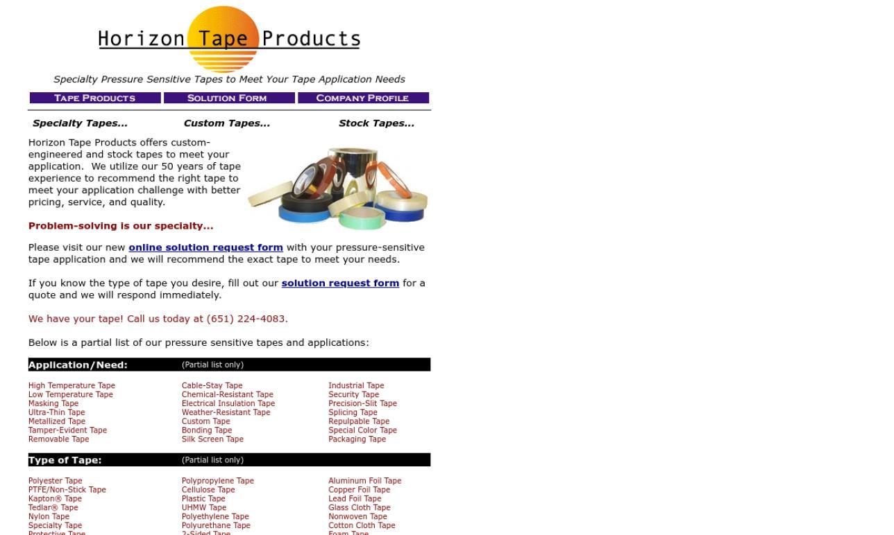 Horizon Tape Products Company